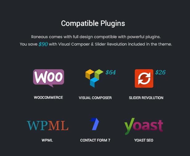 Roneous Compatible Plugins