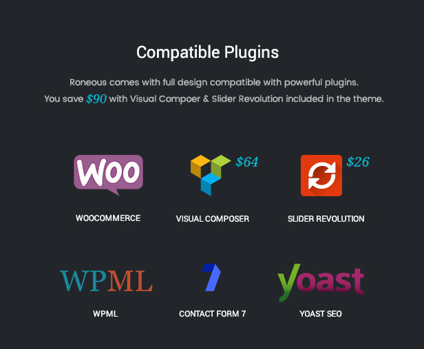 Roneous Compatible Plugins